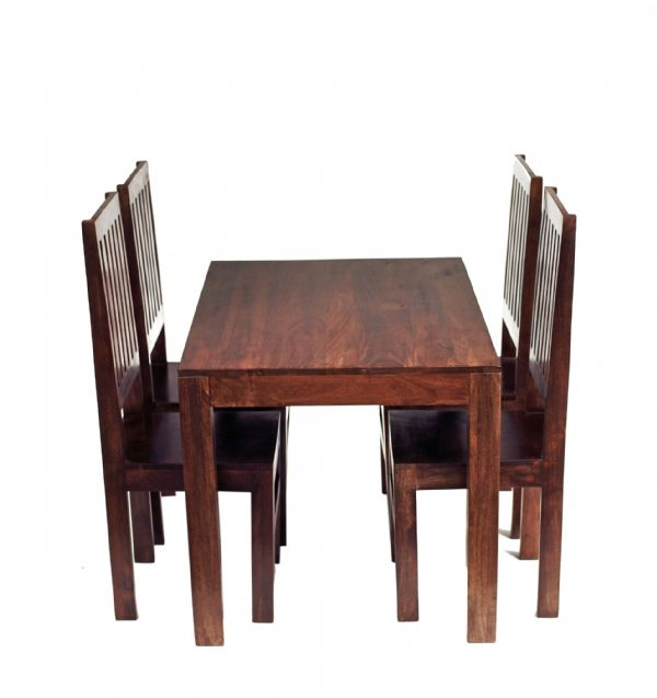 Tokyo Dark Dining Tables | Solid dark mango wood fixed top dining tables in two sizes.